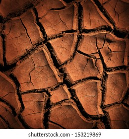 Cracked earth background or texture