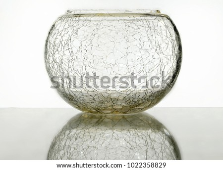 Cracked Glass Vase Bowl On Reflective Stock Photo Edit Now
