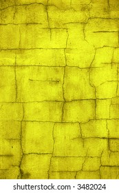 Cracked gold wall background