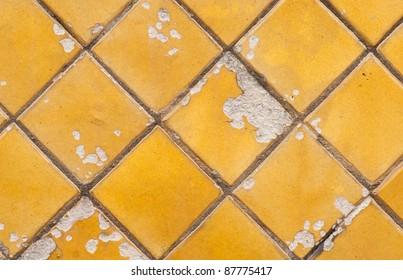 Cracked golden tile