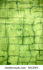 Cracked green wall