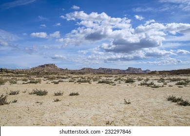 Cracked ground at desert of Bardenas Reales, Navarra, Spain