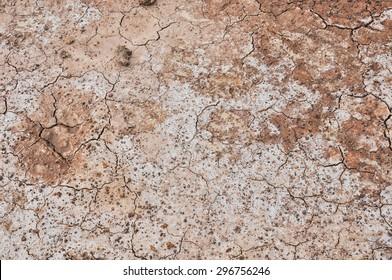 Cracked ground,Dry land. Cracked ground background,Dry cracked ground filling the frame as background
