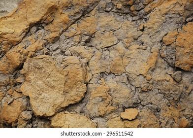 cracked grunge beige rock piece