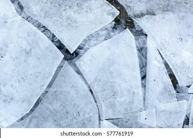Cracked ice. Abstract. Ice, Breaking, Ice Floe, Ice Sheet, Natural Phenomenon.