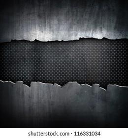 cracked iron background