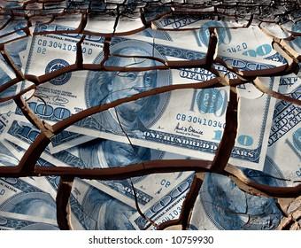 cracked one hundred dollar bills