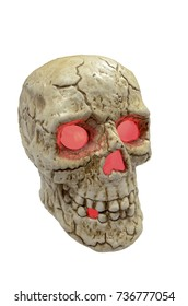 Cracked Skull Halloween Concept