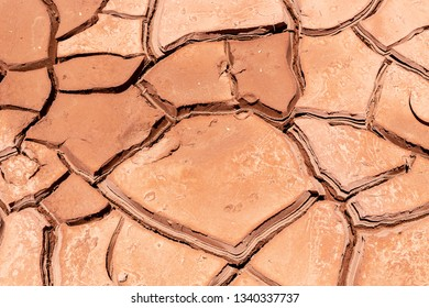 Cracked Soil due to Global Warming Background