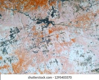 Cracked White and Orange Rock Teture