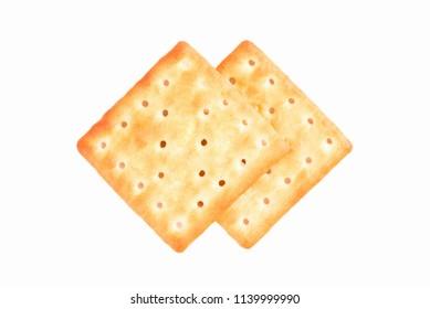 Cracker isolated on white background.