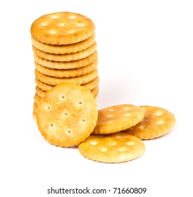 cracker photographed in studio on white isolated background
