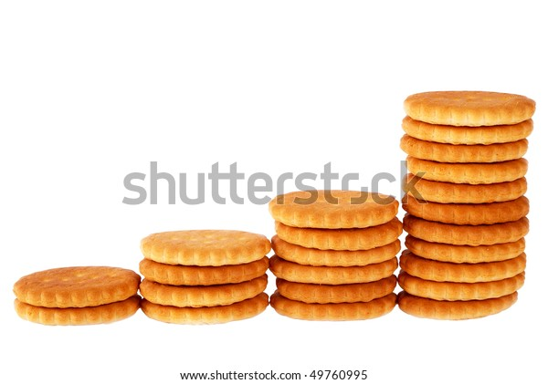 Crackers on the isolated background