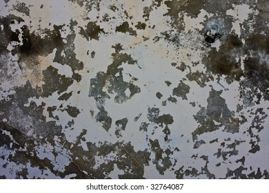 crackled paint wall