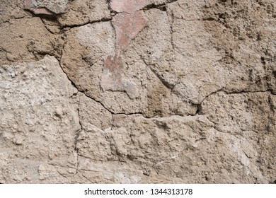 Cracks in the concrete wall. Abstract background for design