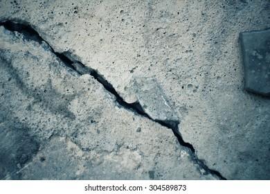 Cracks on the road