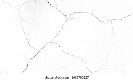 cracks on a white background. texture for the designer