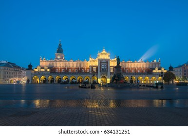 Cracow (Krakow), Poland - The Main Square with the Cloth Hall (Sukiennice)