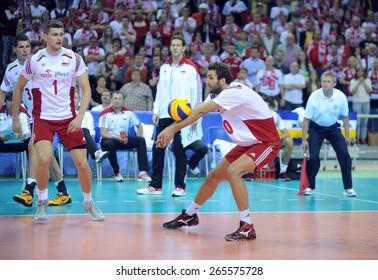 CRACOW, POLAND - JUNE 20, 2015: FIBV World League Volleyballo/p Mateusz Mika
