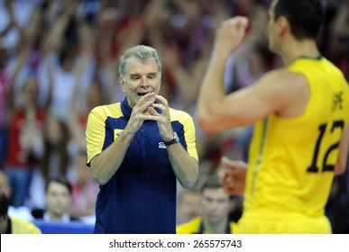 CRACOW, POLAND - JUNE 20, 2015: FIBV World League Volleyball