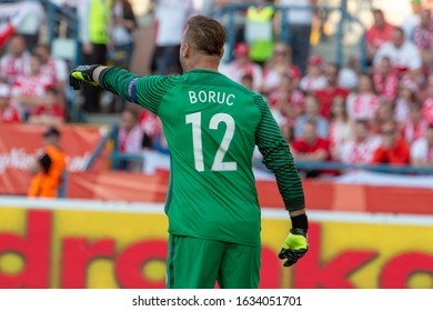 CRACOW, POLAND - JUNE 6, 2016: Goalkeeper Artur Boruc from Poland during the football match between Poland and Lithuania at the Municipal Stadium in Cracow.