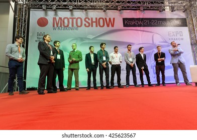 CRACOW, POLAND - MAY 21, 2016: 3rd edition of MOTO SHOW in Krakow. Poland.  The world debut Hydrocar Premiera - the first Polish hydrogen-car