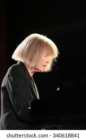 CRACOW, POLAND - NOVEMBER 3, 2015: Carla Bley Trios playing live music at The Cracow Jazz All Souls  Day Festival in Cracow. Poland