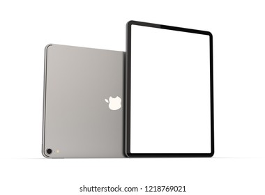 Cracow, Poland - November 31, 2018 :  iPad Pro a new version of the tablet from Apple.