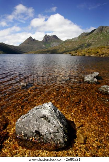 Cradle Lake in Tasmania, Australia