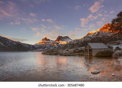 The Cradle Mountain is a mountain in the Central Highlands region of Tasmania, Australia. The mountain is situated in the Cradle Mountain-Lake St Clair National Park.
