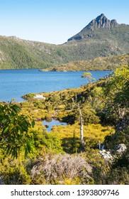 Cradle Mountain and Dove Lake in the Cradle Mountain - Lake St Clair National Park in Tasmania, Australia.