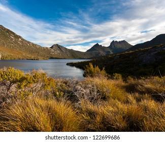 Cradle Mountain and Dove Lake Tasmania in Cradle Mountain Lake St Clair National Park, Australia