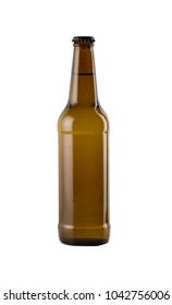 Craft beer bottle isolated on white background