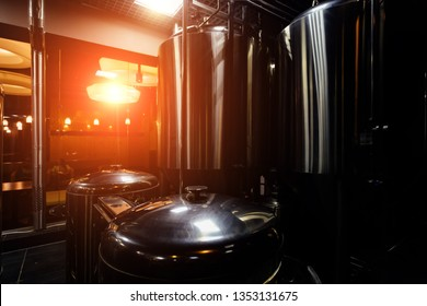 Craft beer production in microbrewery