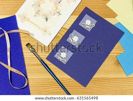 Craft Greeting Card Income Hobbies Home Stock Photo Edit Now
