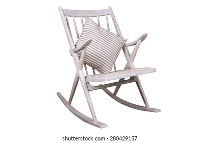 Craft rocking chair of wood