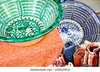 Crafts of Alpujarras famous mountainous region in the province of Granada Andalusia Spain