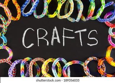 crafts background rubber bracelets