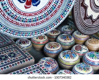 Crafts made from carved soapstone. Minas Gerais state, Brazil.