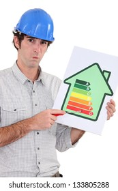 Craftsman with energy rating poster