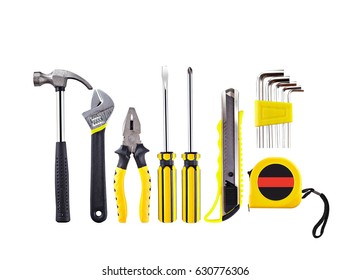 Craftsman tool,tool set isolate on white background