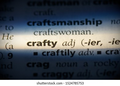 crafty word in a dictionary. crafty concept, definition.