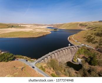 Craig Goch Dam, Elan Valley, Powys, Mid Wales, UK Spring 2019