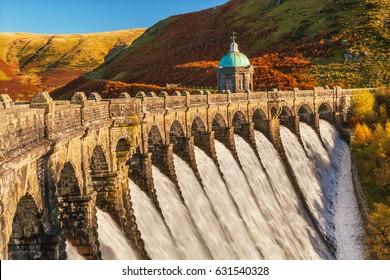 Craig Goch Dam, Elan Valley, Powys, Mid Wales, UK