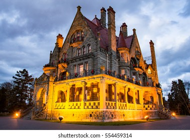 Craigdarroch Castle in Victoria, British Columbia, Canada, a historic, Victorian-era Scottish Baronial mansion