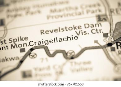 Craigellachie. Canada on a map.