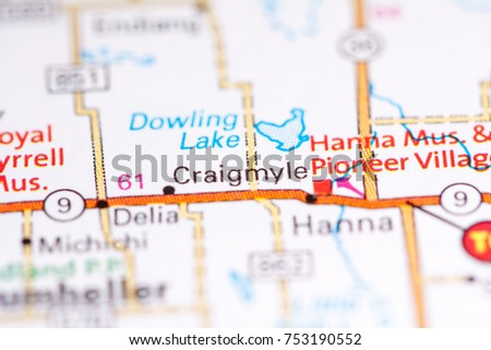 Craigmyle Canada On Map Stock Photo (Edit Now) 753190552 - Shutterstock