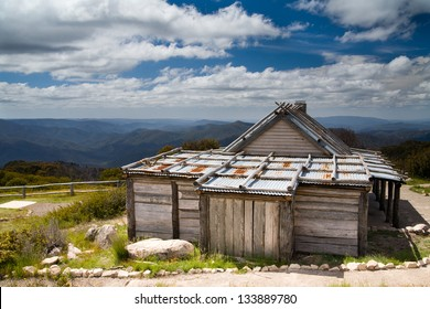 Craigs Hut from the set of 'Man from Snowy River' in Victoria's High Country, Australia