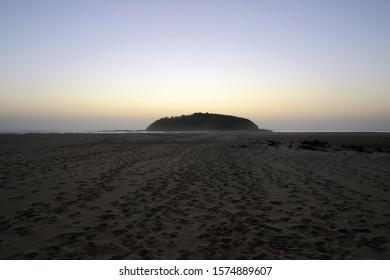 Crampton Island silhouette at sunset, Tabourie Lake Australia