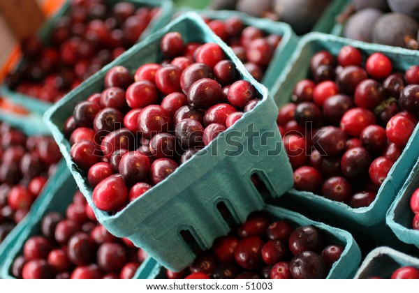 cranberries in containers